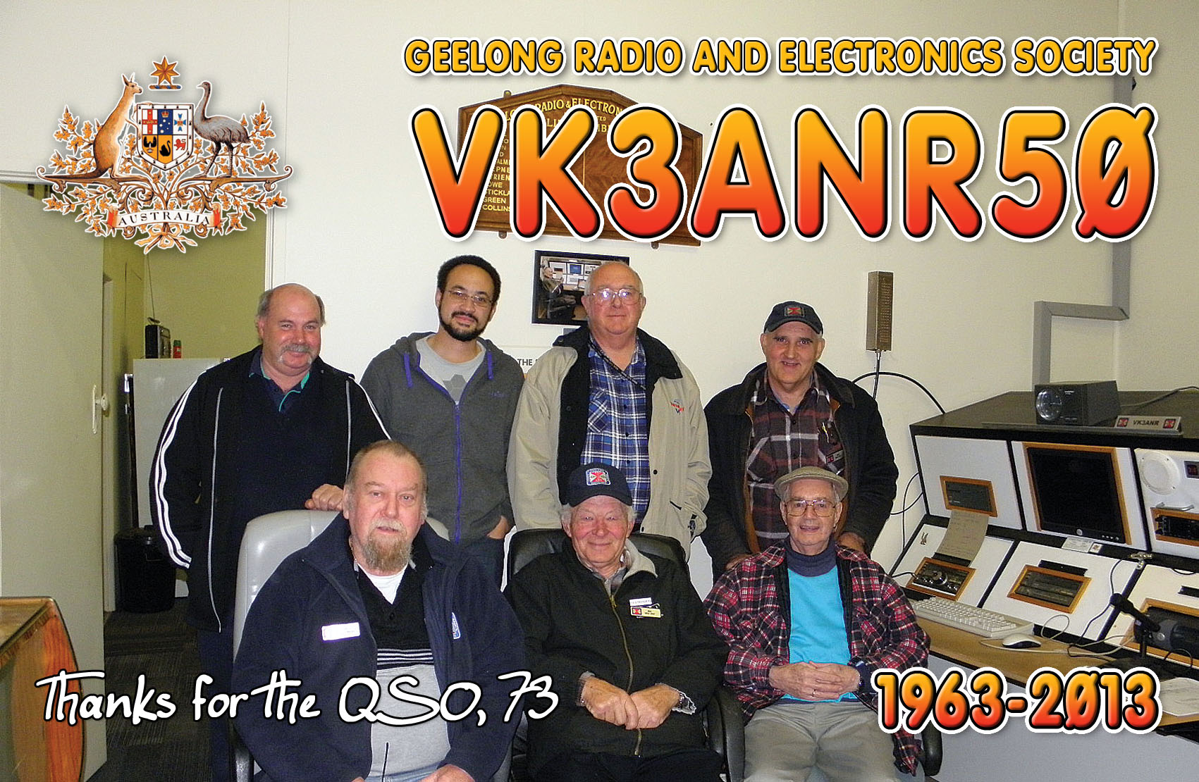 QSL image for VK3ANR50