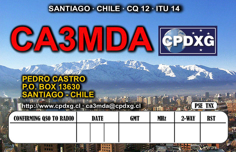 QSL image for CA3MDA
