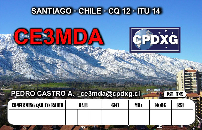QSL image for CE3MDA