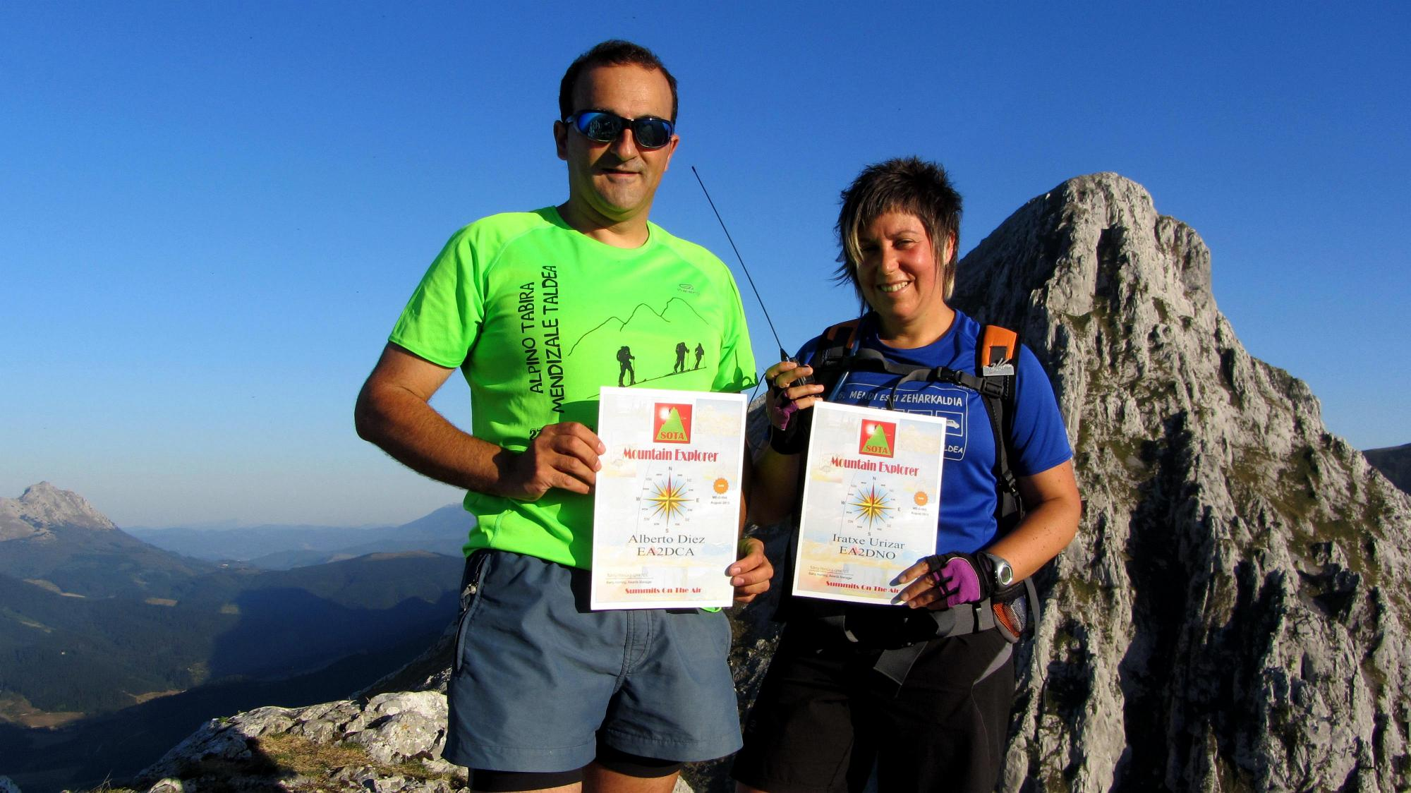 "SOTA Certificate. ""MOUNTAIN EXPLORER. GOLD"" More than 15 association actived"