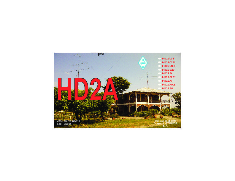 QSL image for HD2A