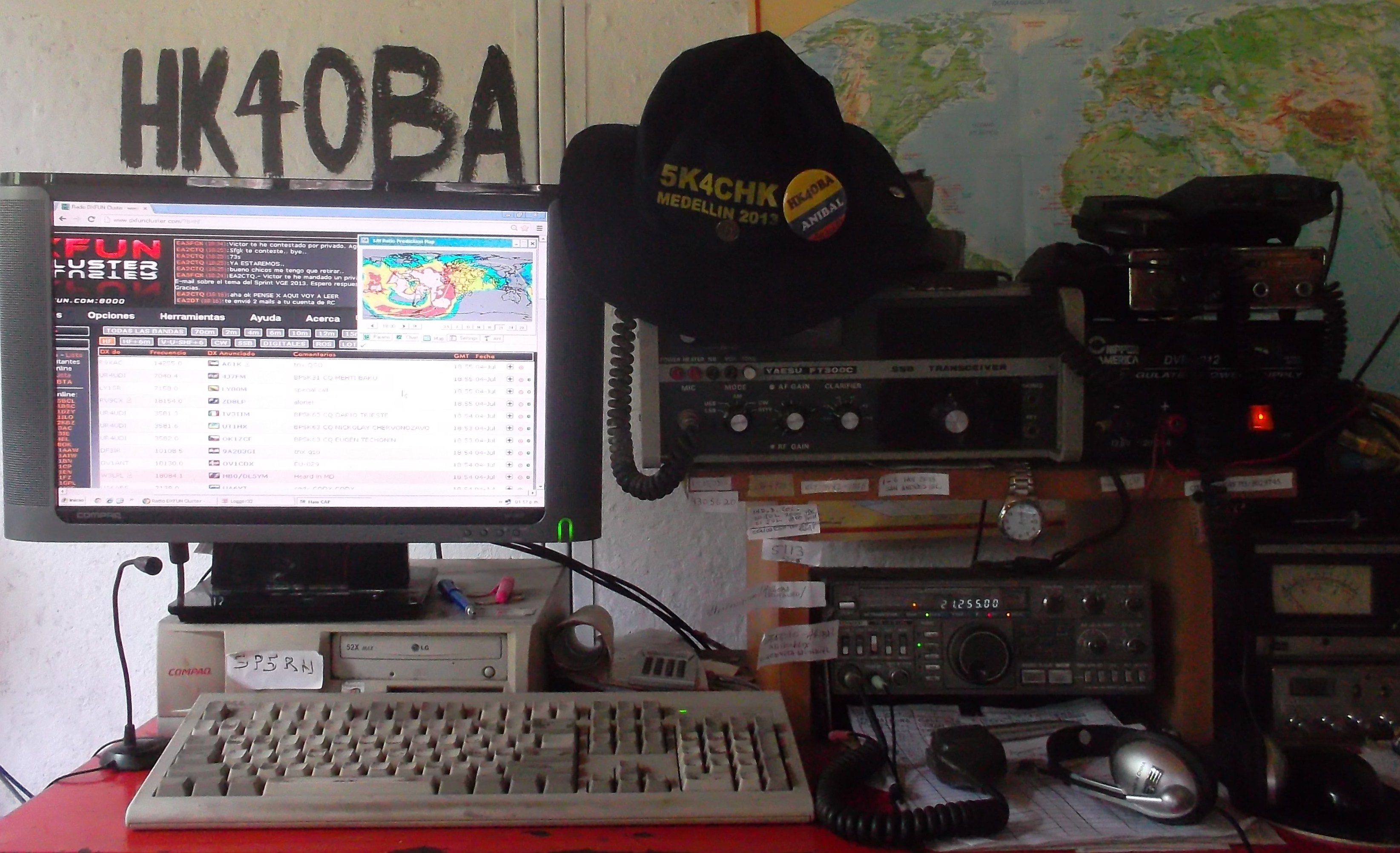 QSL image for HK4OBA