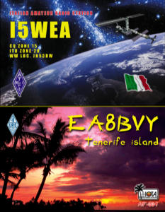 QSL image for I5WEA