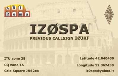 QSL image for IZ0SPA