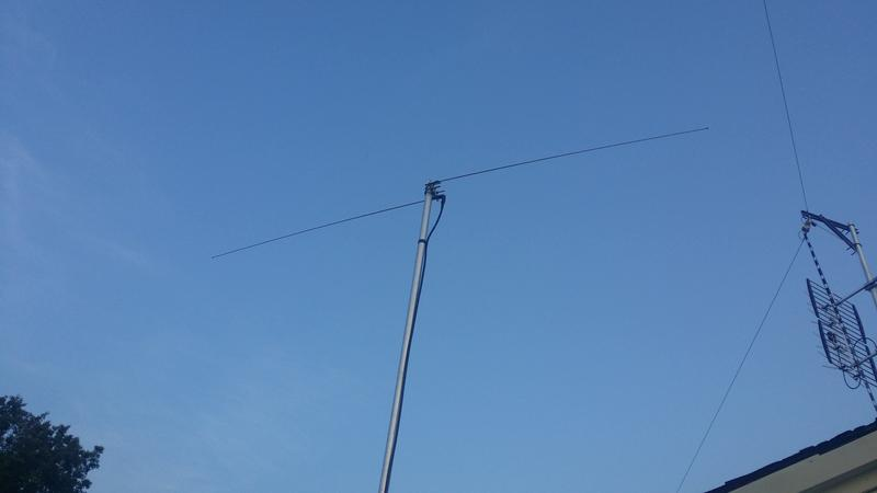 Homebrew 6 Meter dipole.
