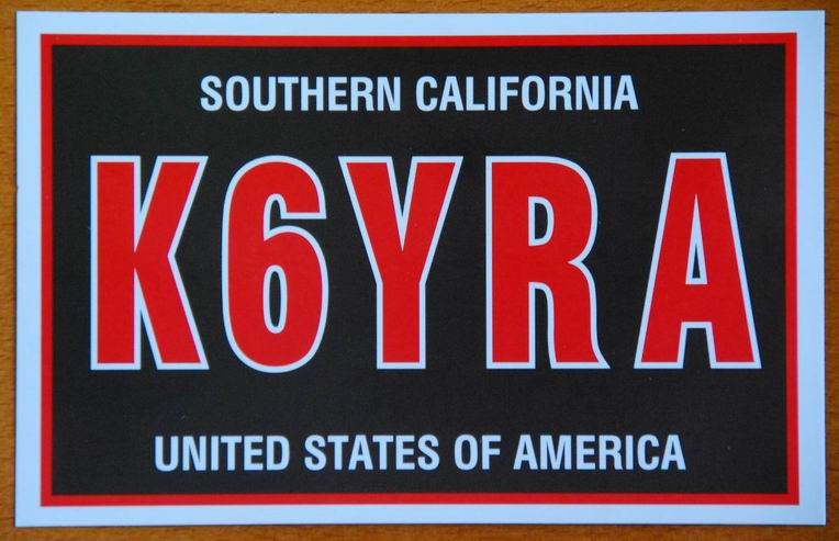 QSL image for K6YRA
