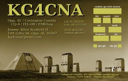 QSL image for KG4CNA