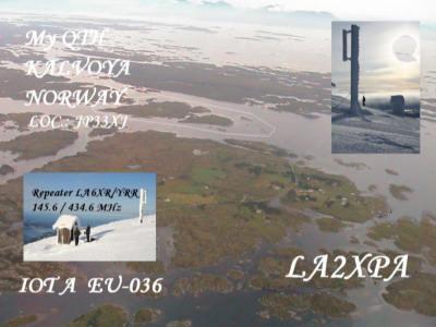 QSL image for LA2XPA