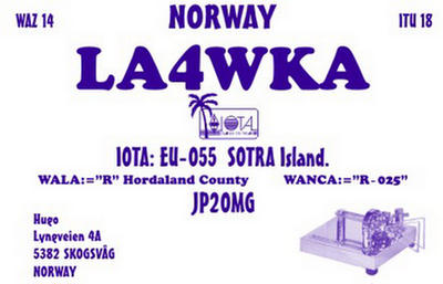 QSL image for LA4WKA