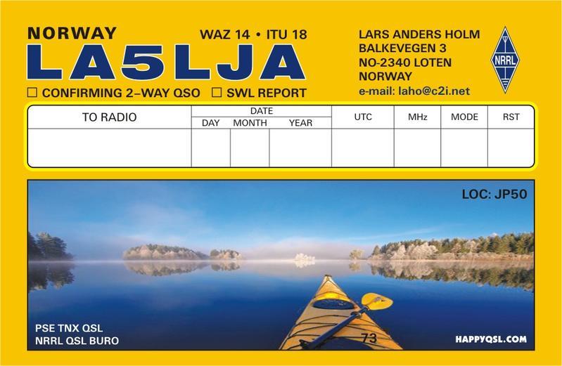 QSL image for LA5LJA