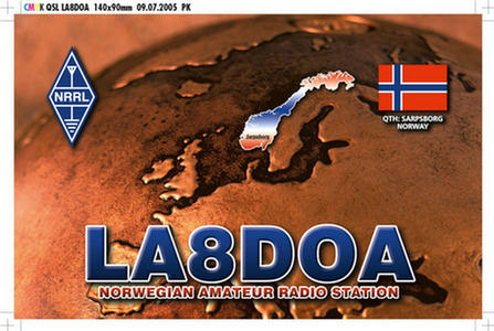 QSL image for LA8DOA