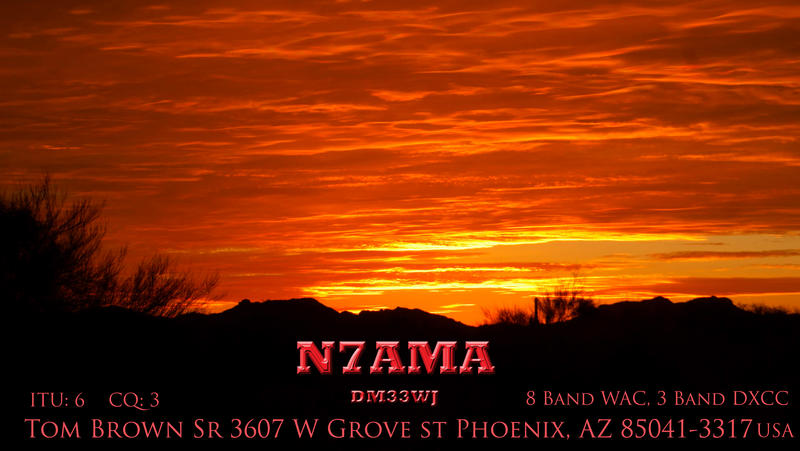QSL image for N7AMA