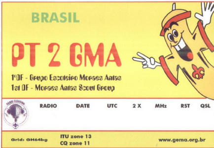 QSL image for PT2GMA