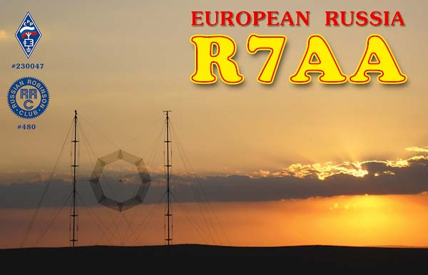 QSL image for R7AA