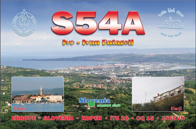 QSL image for S54A