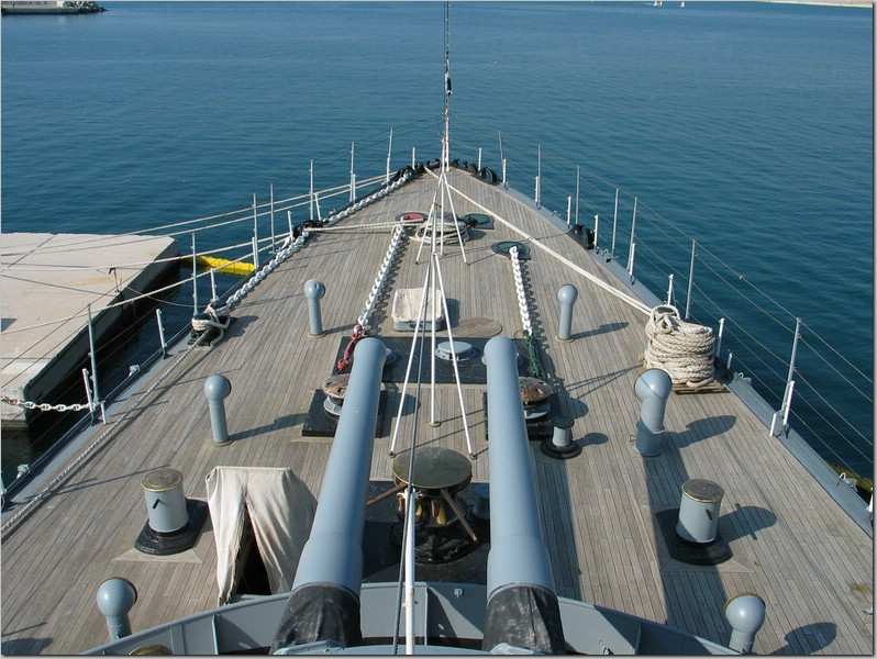 view of the battleship