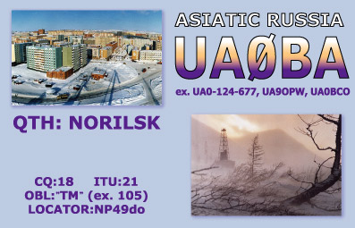 QSL image for UA0BA