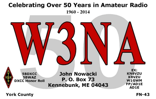 My regular QSL