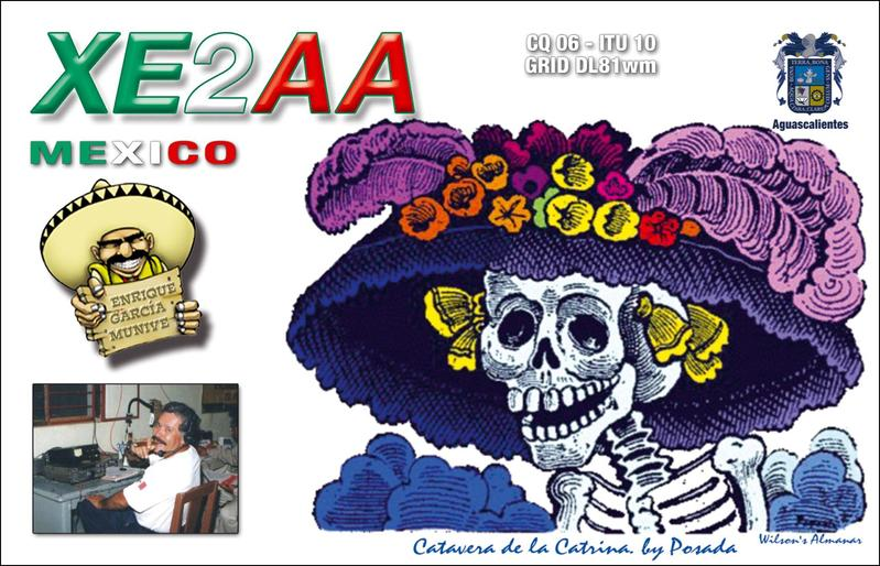 QSL image for XE2AA