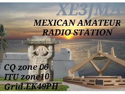 QSL image for XE3JMA