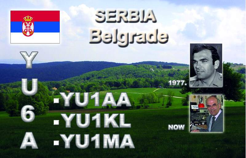 QSL image for YU6A