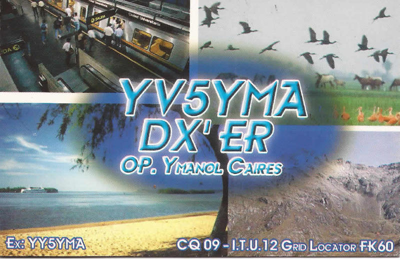 QSL image for YV5YMA