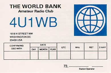 QSL image for 4U1WB
