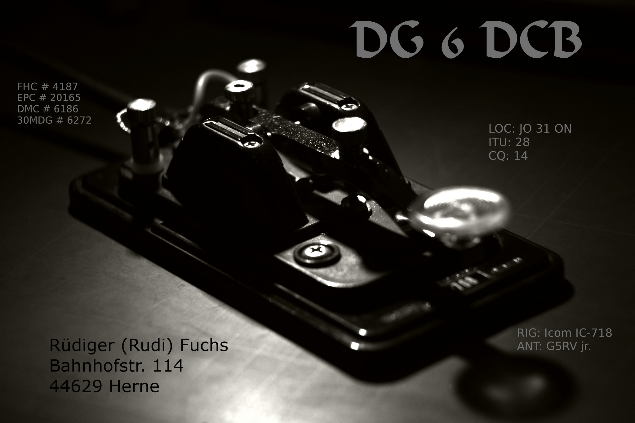 QSL image for DG6DCB