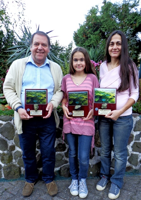 DG1EA, Ben,  DN4SB/Lara and DN4SB/Sibel with Vulkaneifel-Trophy
