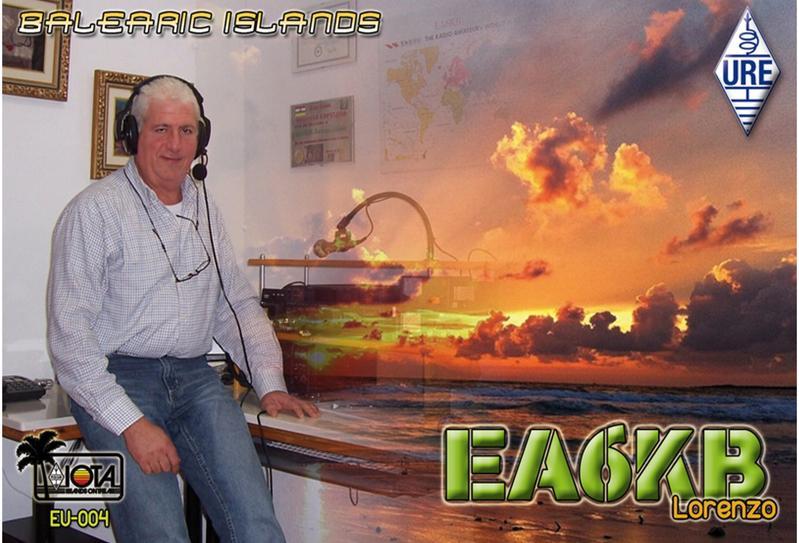 QSL image for EA6KB