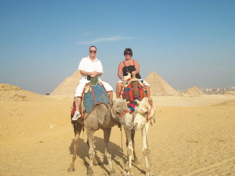 on our camels in Egypt