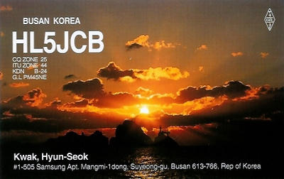 QSL image for HL5JCB
