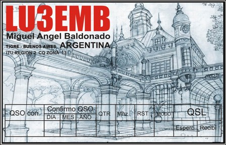 QSL image for LU3EMB