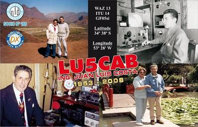 QSL image for LU5CAB