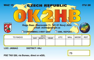 QSL image for OK2HB
