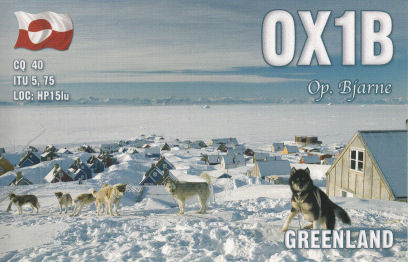 QSL image for OX1B