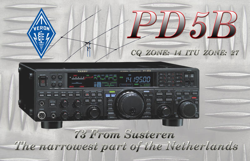 QSL image for PD5B