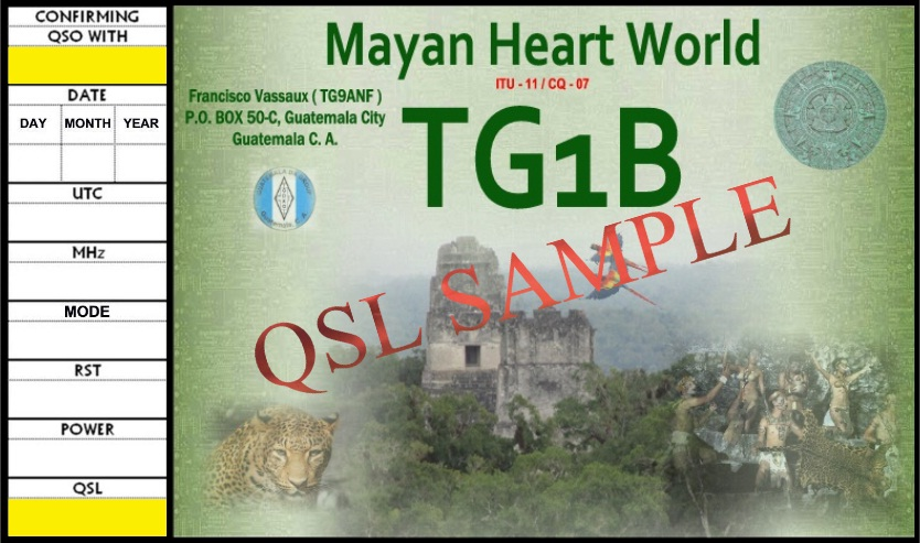 QSL image for TG1B