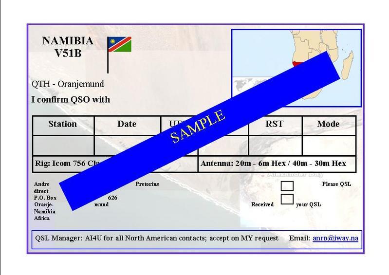 QSL image for V51B