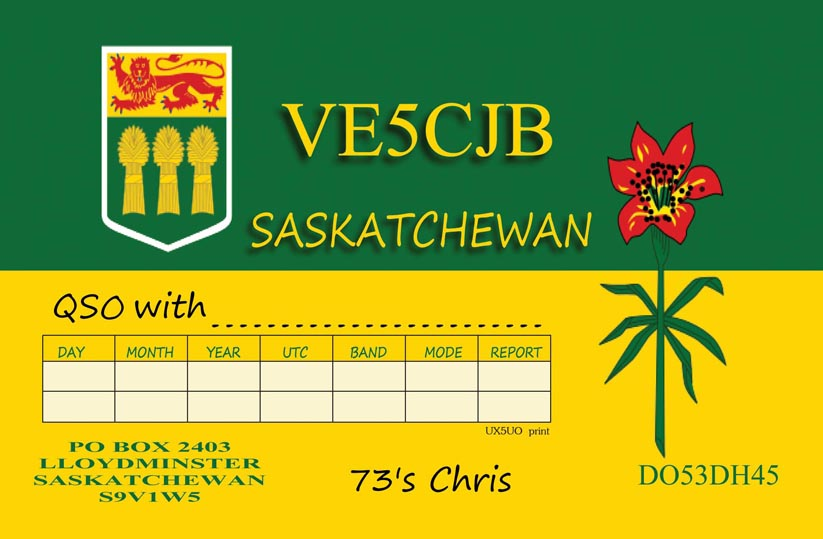 QSL image for VE5CJB