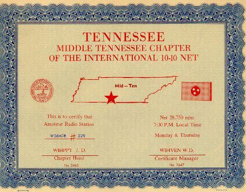 Mid Tennessee # 329