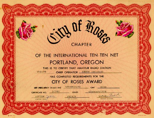 City of Roses # 1C760