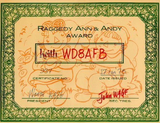 Raggedy Ann & Andy # 937