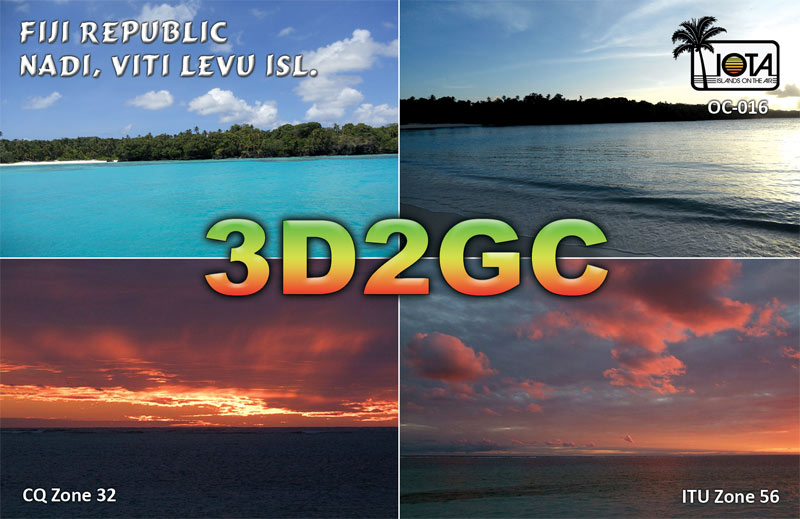 QSL image for 3D2GC