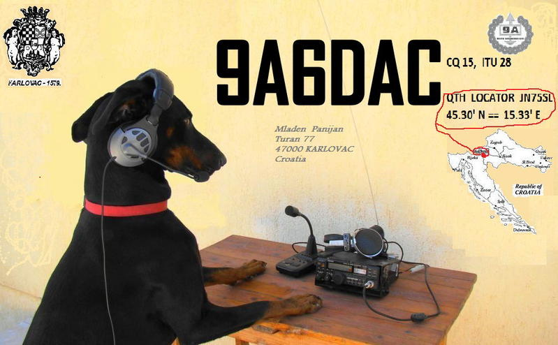 QSL image for 9A6DAC