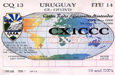 QSL image for CX1CCC