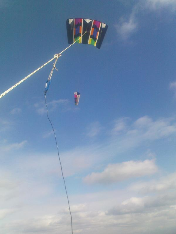 Lifting up the kite