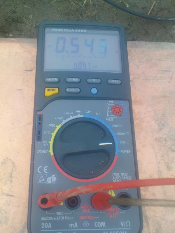Measuring antenna current