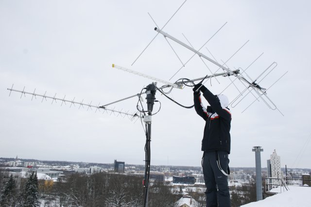 Antennawork at Tartu University groundstation