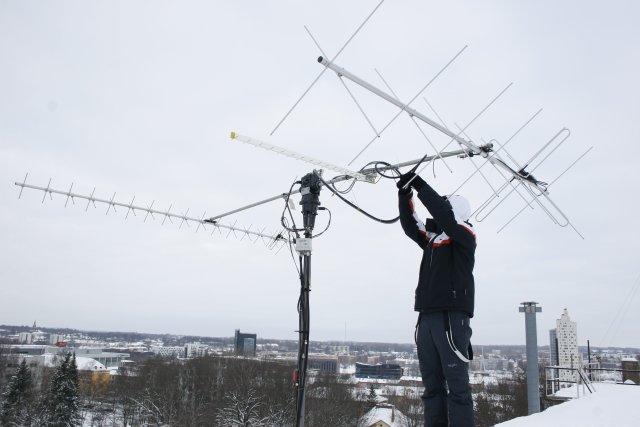 Antennawork at Tartu University groundstation